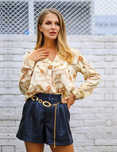 Casual Shirt xl Couleur 14 Haut Col Feelingirl Tops Femme Tunique Rond Manches Pull Dentelle Lâché Blouse S Longues PUw8Z