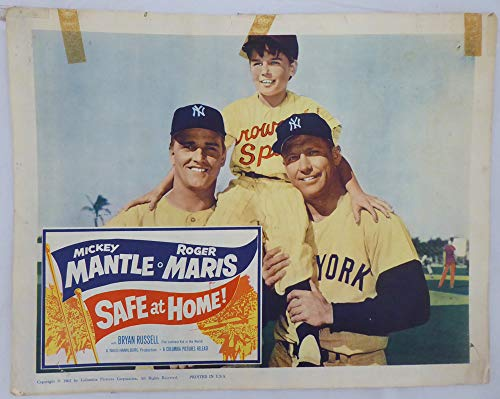 1962 Safe At Home Original Unsigned Lobby Card New York Yankees Mickey Mantle & Roger Maris SKU #147239