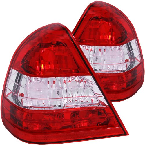 Anzo USA 221157 Mercedes-Benz Red/Clear Tail Light Assembly - (Sold in Pairs) ()