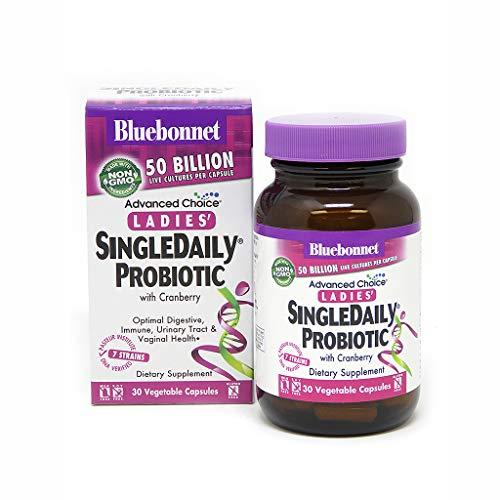 Bluebonnet Nutrition Advanced Choice Ladies Single Daily Probiotic 50 Billion (Cold Packaged), 30 Count