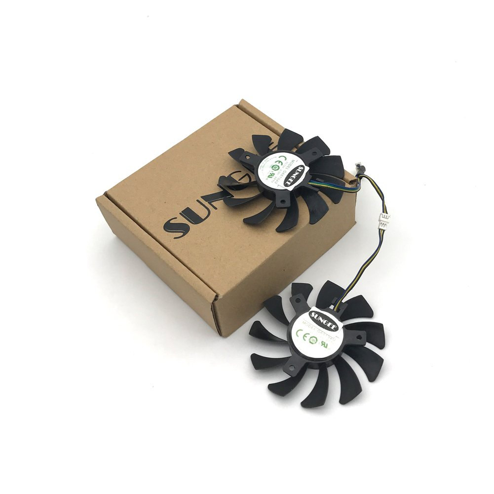 2Pcs/Lot 75mm GA81S2U DC 12V 0.38A 4Pin Dual Cooler Fan 40x40x40MM For ZOTAC Graphics Video Card Fans by Sungee (Image #5)