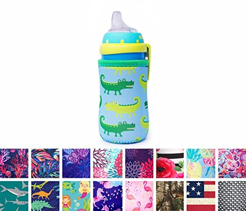 Koverz for Kids - #1 Neoprene Baby Bottle/Sippy Cup Insulator Cooler Coolie - CHOOSE FROM 30+ STYLES! - Alligators