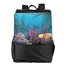 Underwater World Sea Plants Outdoor Travel Hiking Backpack Daypacks Casual Camping Climbing Shoulders Bag Unisex