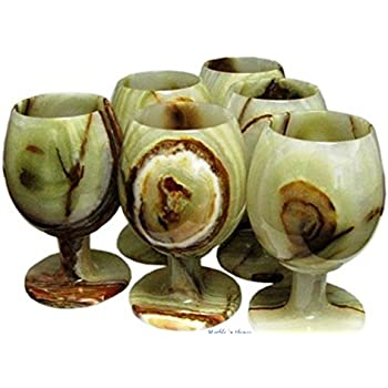 Amazon Com Marble Onyx Wine Glasses Cup Stone Goblet Set