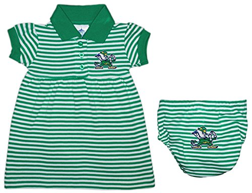 Notre Dame University FIghting Irish Striped Game Day Dress with Bloomer