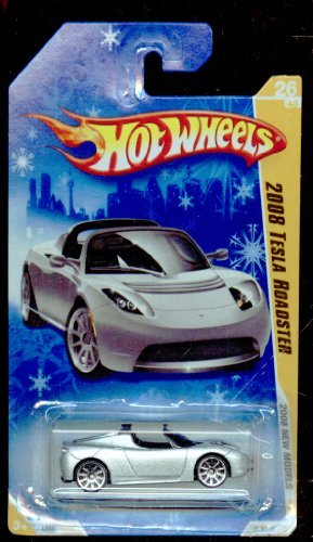 (TESLA ROADSTER Hot Wheels 2008 First Editions Series GRAY Tesla Roadster on a SNOW Card 1:64 Scale Collectible Die Cast Sports Electric Car #6)