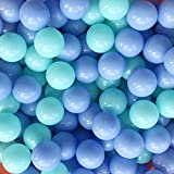Thenese Pit Balls Crush Proof Plastic Children's Toy Balls Macaron Ocean Balls 2. 15 Inch Pack of 100 Green&Blue