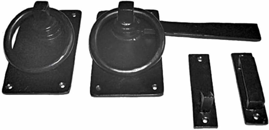 Cast Iron Ring Pull Gate Latch Catch Set Antique Latch Replica Light Duty Application Renovator's Supply