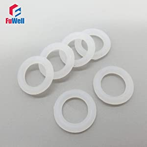 Ochoos O-Ring Seals Gasket White Silicon Food Grade 3mm Thickness 32/33/34/35/36/37/38/39/40/41/42mm OD Rubber O Rings Sealing Washer - (Size: 200pcs, Color: 35x29x3mm)