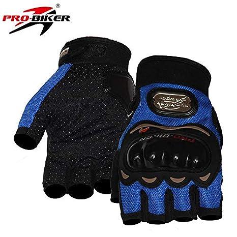 Pro-Biker da bici e da moto guanti da corsa guanti corti sportivi in pelle