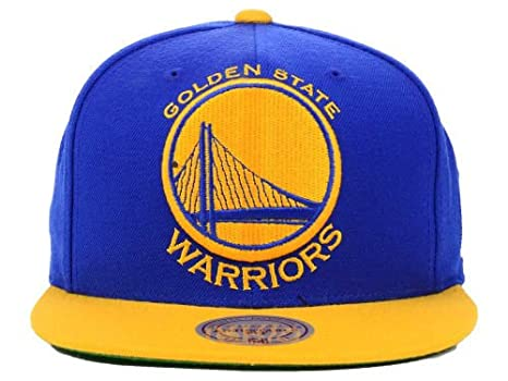 1e3ebc5bbf3085 Image Unavailable. Image not available for. Color: Mitchell and Ness NBA  Golden State Warriors 2 Tone XL Logo Snapback Cap