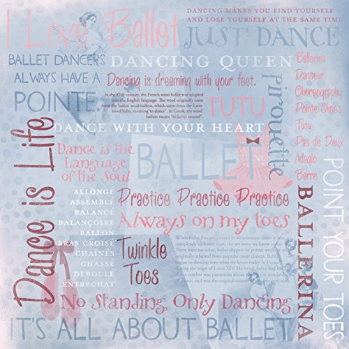 KAREN FOSTER 12 X 12-Inch Scrapbook Paper, 25 Sheets, I Love Ballet Collage