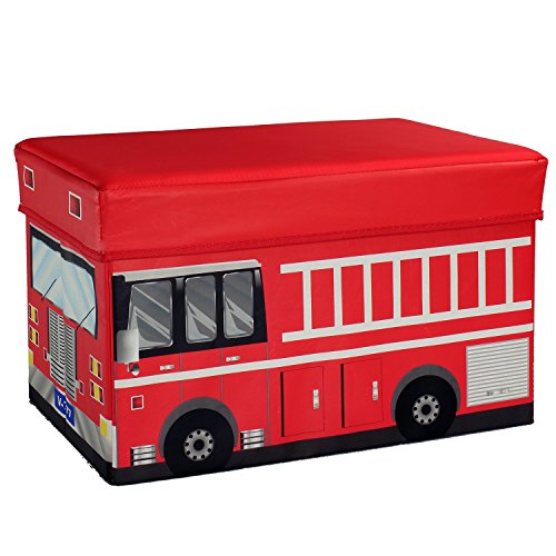 Fire Truck Storage Box and Toy Organizer - Ride In A Fire Truck Costumes