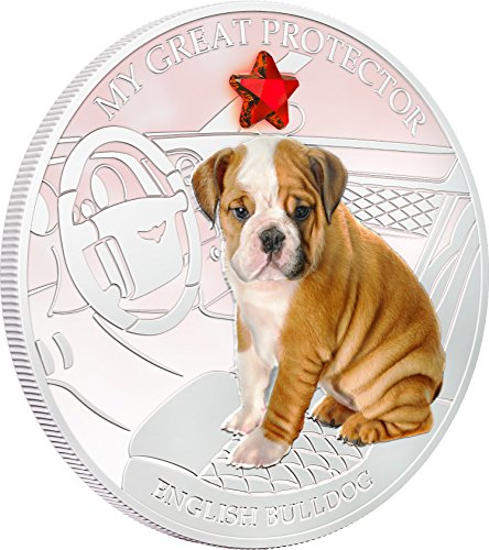 2013 Fiji - Dogs & Cats - Release 2 - My Great Protector - English Bulldog - 1oz - Silver Coin $2 Uncirculated