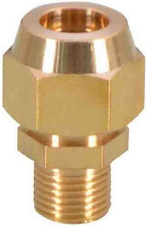 Sturdy 10pcs Copper Flaring Directly Connect 1//8 1//4 3//8 1//4 Male Thread Brass Fitting Copper Expansion Estuary Flared Adapter Connector Size : 8mm Pipe OD, Thread Specification : 38