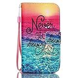 UNEXTATI Galaxy S3 Mini Case, Premium Flip Case with Wrist Strap, Kickstand, Card-Slot, Magnet Closure, Slim-Fit Leather Case, Wallet Case for Samsung GalaxyS3 Mini (P1 Multicolor?