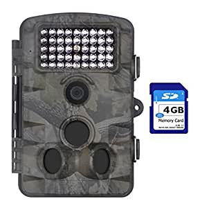 """XIKEZAN 1080P HD Trail & Game Camera,12MP Mini Night Vision Wildlife Camera with Time Lapse & 2.4"""" LCD Screen"""