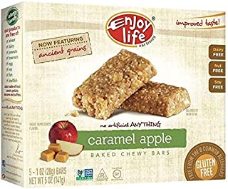 product image for Enjoy Life Caramel Apple Chewy On The Go Bars, Gluten, Dairy & Nut Free, 5 oz