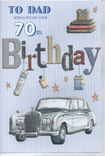 Price comparison product image To Dad With Love On Your 70th Birthday card