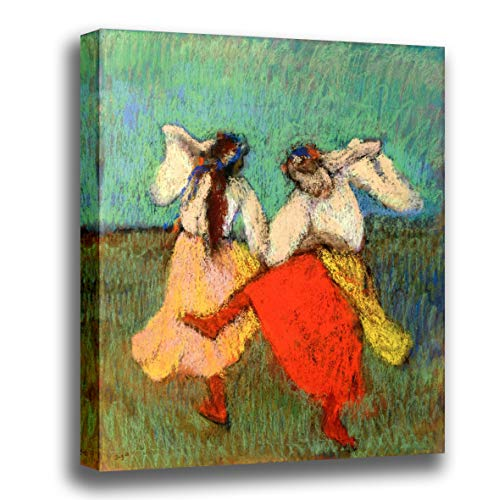 Canvas Print Wall Art - Russian Dancers - by Edgar Degas - Giclee Printed on Stretched Gallery Wrap - 12x12 inch