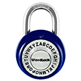 Wordlock PL-095-A1 Text Lock Combination Dial Lock, Assorted Colors