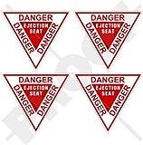 "DANGER EJECTION SEAT USAF Martin Baker 2,4"" (60mm) Vinyl Stickers, Decals x4"