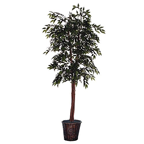 (Vickerman TDX1460 Everyday Smilax Tree, Green, 6')