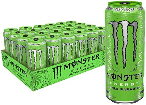 Monster Energy Ultra Paradise, Sugar Free Energy Drink, 16 oz (Pack of 24)