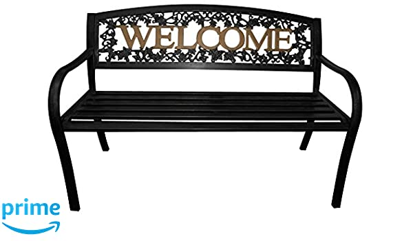 Excellent Amazon Com Leigh Country Tx 94108 Black And Gold Welcome Evergreenethics Interior Chair Design Evergreenethicsorg