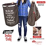 dbest products Laundry Trolley Dolly, Brown Laundry
