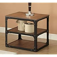 ACME Furniture 80451 Kenton End Table, Oak & Black