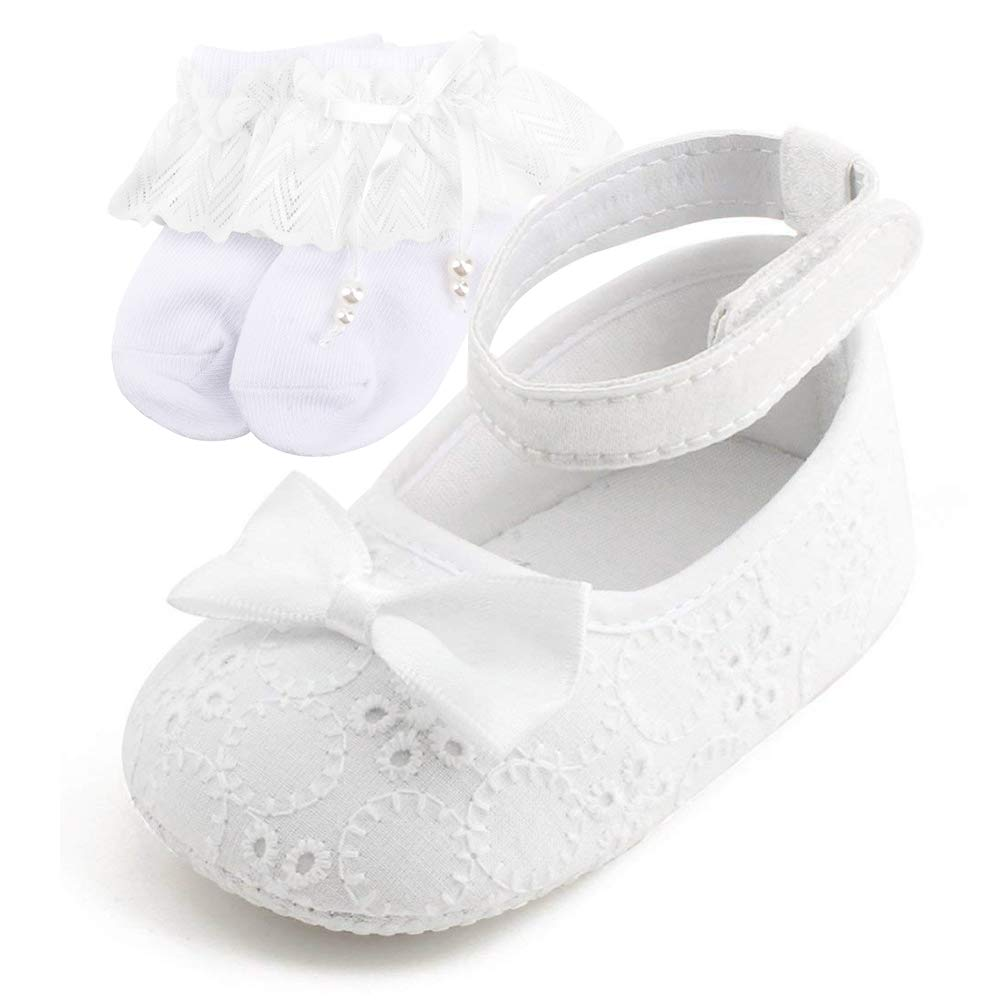 fdb70f2836694 OOSAKU Baby Girls Infant Toddler Christening Baptism Shoes Anti-Slip ...