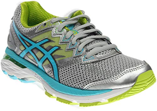 ASICS Women's GT-2000 4 Running Shoe, Silver/Turquoise/Lime Punch, 7 2E US