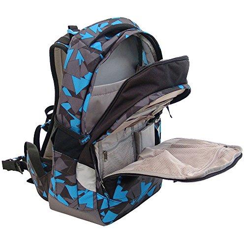 Satch Sleek Schulrucksack Set 2tlg. - Verschiedene Farben (Waikiki Blue) Disco Frisco 1c9jad