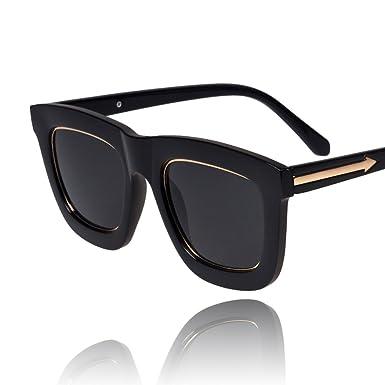 bf8ae0ad79 Metal arrow sunglasses B side large frame sunglasses Korea vintage  sunglasses in Black