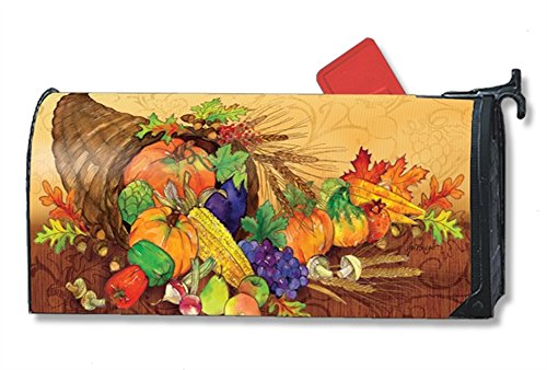 MailWraps Studio M Bountiful Harvest Decorative Oversized, The Original Magnetic Mailbox Cover, Made in USA, Superior Weather Durability, Large Size fits 8W x 21L Inch Mailbox