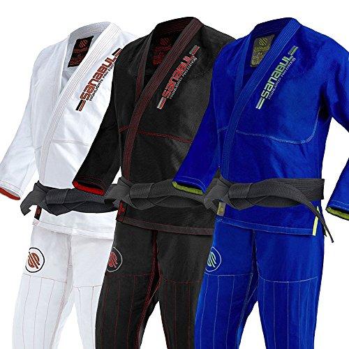 Sanabul Highlights Professional Competition BJJ Jiu Jitsu Gi (Blue, A3)