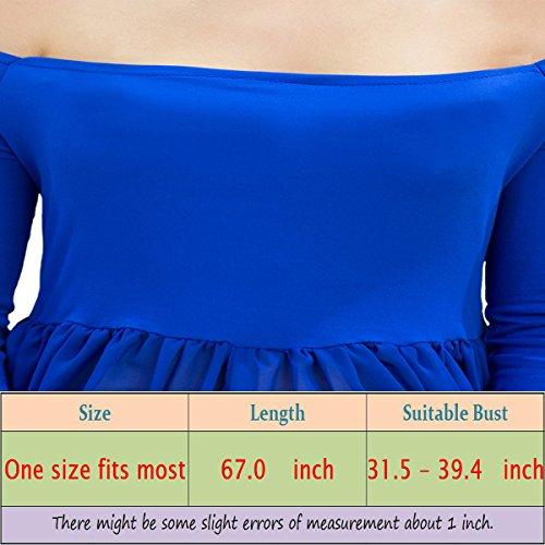 Tee-Moo - Vestido - ajustado - Manga Larga - para mujer Azul