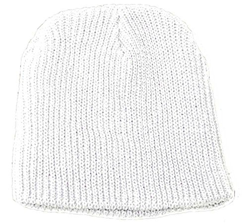 TOP HEADWEAR New White GI Waffle Winter Short Beanie