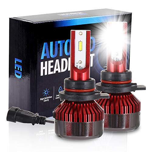(ECCPP 9012 LED Headlight Bulb Hi/Lo Beam White Headlamp Conversion Kit - 80W 6000K 9600Lm - 5 Year Warranty(Pack of 2))