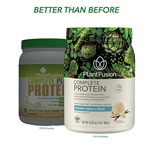 PlantFusion Complete PlantBased Protein Powder Gluten Free Vegan NonGMO Packing May Vary Vanilla 1