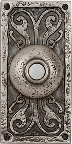 Craftmade PB3037-AP Designer Surface Mount Lighted Doorbell LED Push Button, Antique Pewter (5.25