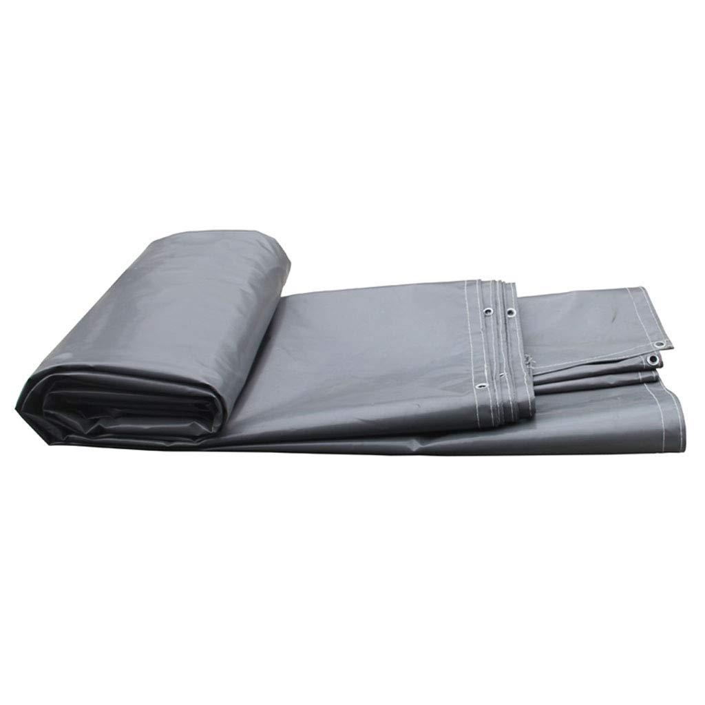 YX-Planen Robuste PVC-Plane Reversible Waterproof Sheet Premium-Qualitätsabdeckung Grau - 100% wasserdicht und UV-geschützt - Dicke 0,6 mm, 600 g m²