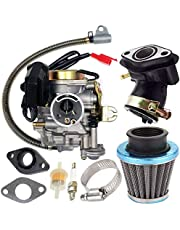 139QMB Carburetor for GY6 50CC 49CC 4 Stroke Scooter Taotao Engine 18mm carb+ Intake Manifold Air Filter by TOPEMAI
