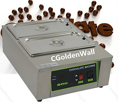 CGOLDENWALL 8kg Capacity 2 Tanks Commercial Electric Chocolate melter Chocolate melting machine Chocolate melting pot chocolate tempering machine Digital Chocolate Warmer 110V/220V CE
