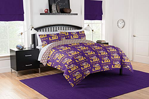 Official LSU Louisiana State Tigers Queen Bed in Bag Set