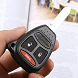 ARANA 3 Buttons Remote Keyless Entry Key Fob Case Shell  for Mitsubishi Chrysler Dodge Durango 2004 2005 2006 2007 2008 2009