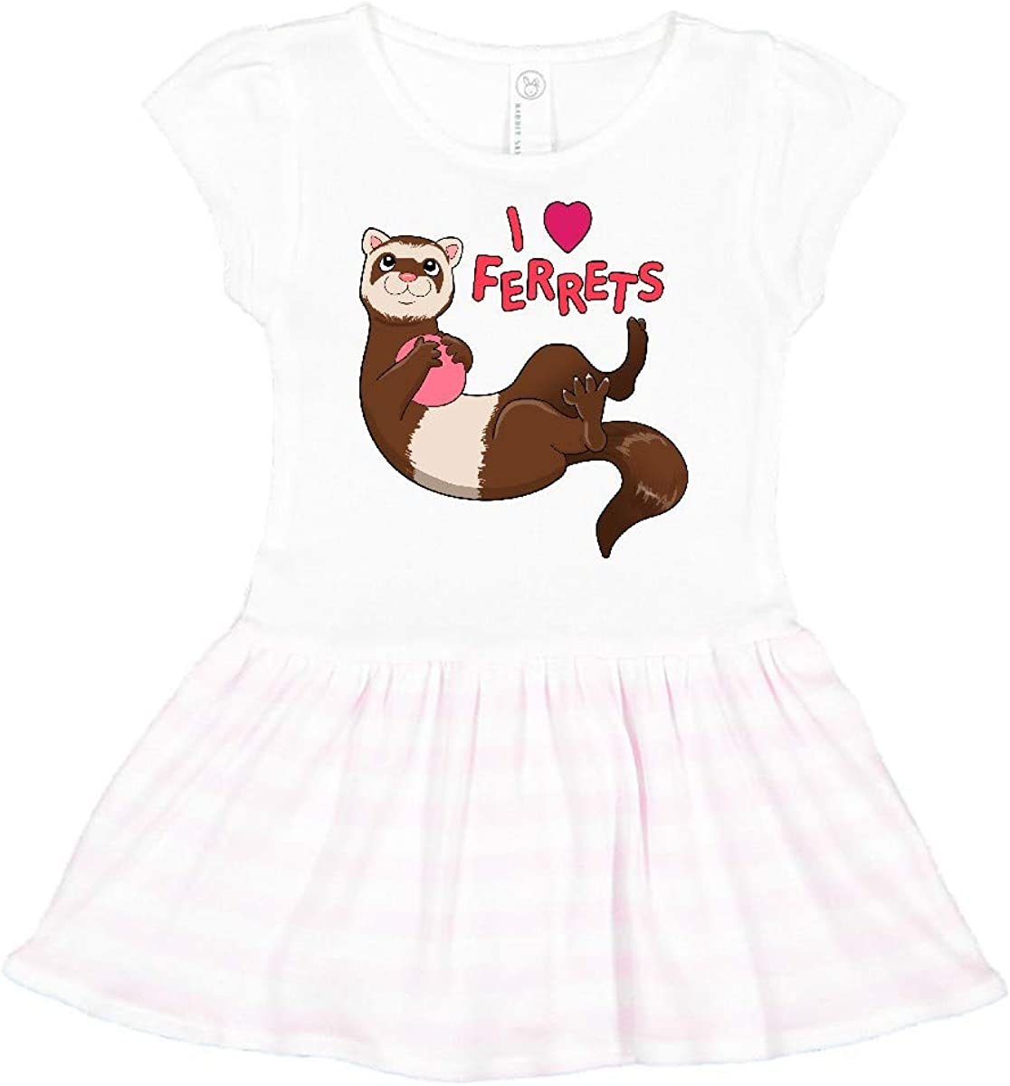 inktastic Cute Ferret Heart Infant Tutu Bodysuit
