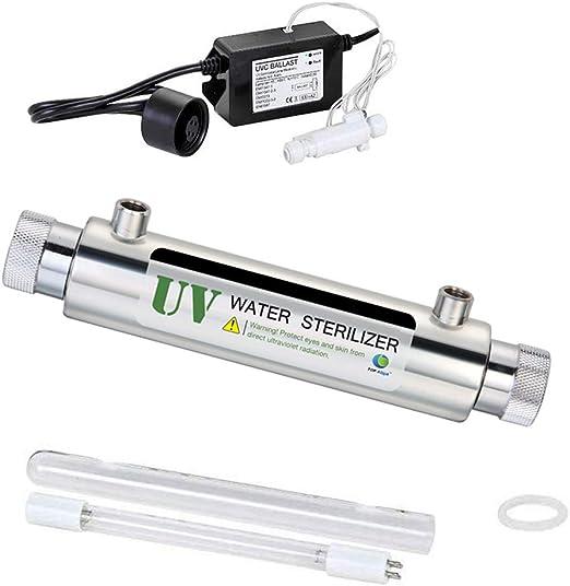 GRASSAIR Sistema de Tratamiento de Filtro de Agua UV de 16 W 0.4m3 ...