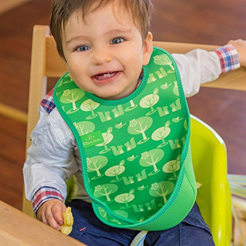 Bibetta Ultrabib Baby Bib (Green Owl) by BabyCenter (Image #3)